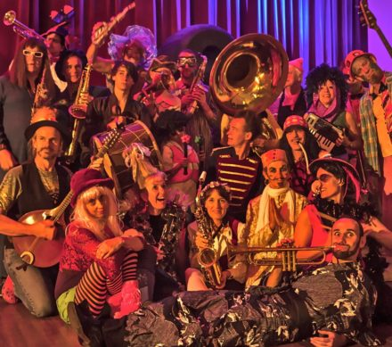 The Unusual Suspects, a 25 piece Gypsy street band led by Linsey Pollak